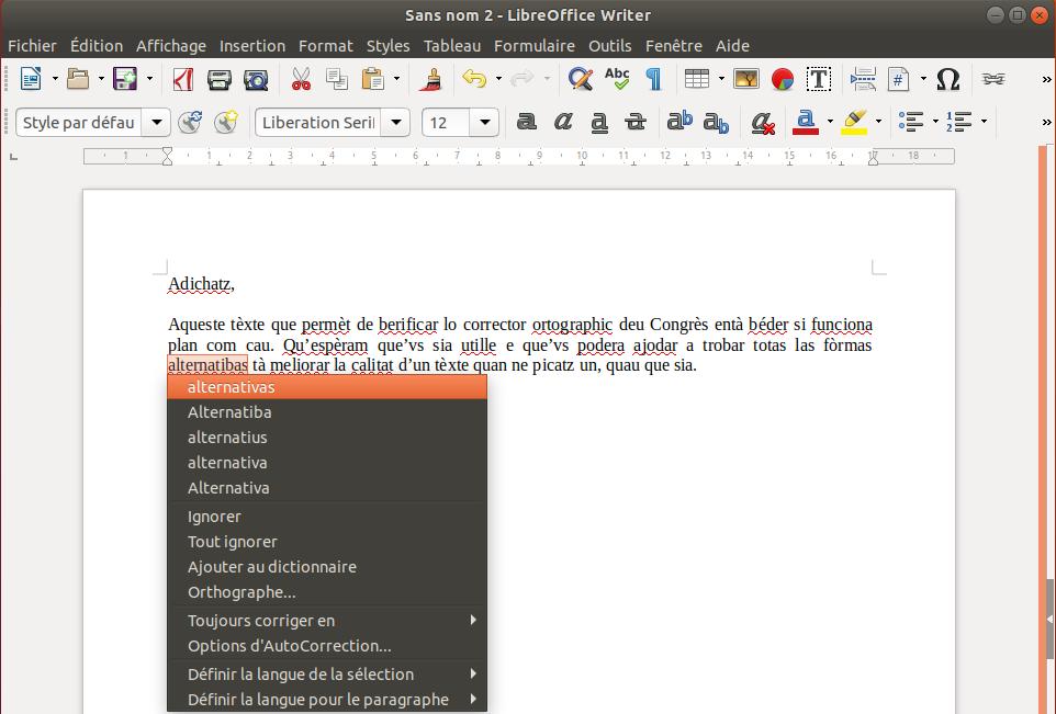Correctors ortografics en occitan